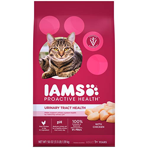 IAMS PROACTIVE HEALTH Adult Urinary Tract Health Dry Cat Food with Chicken, 3.5 lb. Bag
