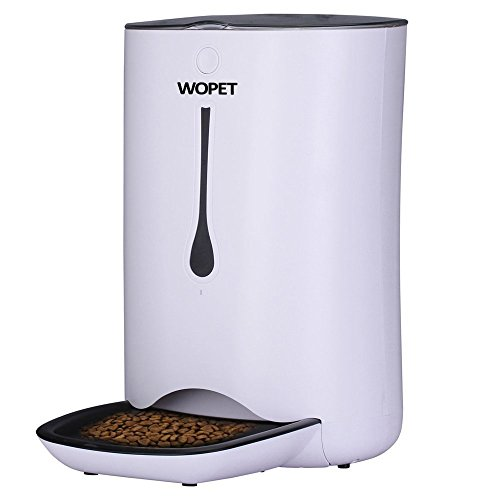 WOPET Automatic Pet Feeder Food Dispenser for Cats and Dogs–Features: Distribution Alarms, Portion Control, Voice...