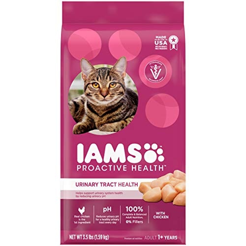 IAMS PROACTIVE HEALTH Adult Urinary Tract Health Dry Cat Food with Chicken Cat Kibble, 3.5 lb. Bag