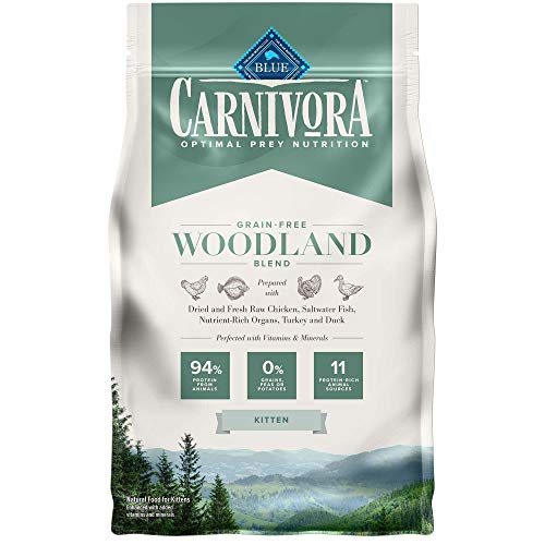Blue Buffalo Carnivora Optimal Prey Nutrition High Protein, Grain Free Natural Kitten Dry Cat Food, Woodland Blend 4lb