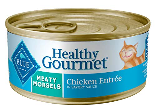 Blue Buffalo Healthy Gourmet Natural Adult Meaty Morsels Wet Cat Food Chicken 5.5-oz cans (Pack of 24)