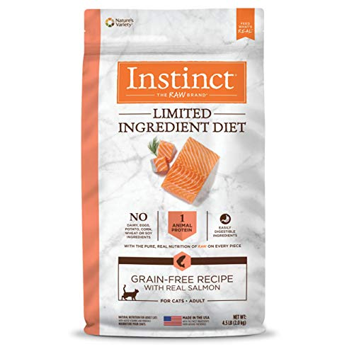 Instinct Limited Ingredient Diet Grain Free Recipe with Real Salmon Natural Dry Cat Food by Nature's Variety, 4.5 lb....