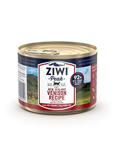 ZIWI Peak Canned Wet Cat Food – All Natural, High Protein, Grain Free, Limited Ingredient, with Superfoods (Venison,...