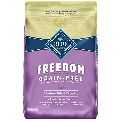 Blue Buffalo Freedom Grain Free Natural Indoor Adult Dry Cat Food, Chicken 11-lb