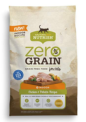 Rachael Ray Nutrish Zero Grain Natural Dry Cat Food, Chicken & Potato Recipe, 6 Pounds, Grain Free