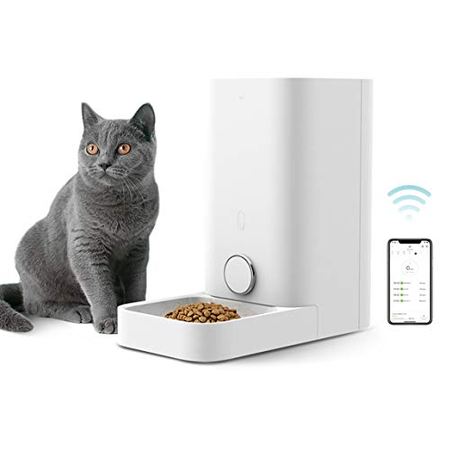 PETKIT Automatic Cat Feeder, Smart Feed Cat Food Dispenser, Wi-Fi Enabled App Control, Portion Control, Distribution...