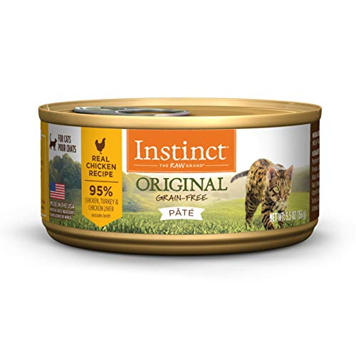 (12 Pack) Instinct Original Grain Free Real Chicken Recipe Natural Wet Canned Cat Food by Nature's Variety, 5.5 oz. Cans...