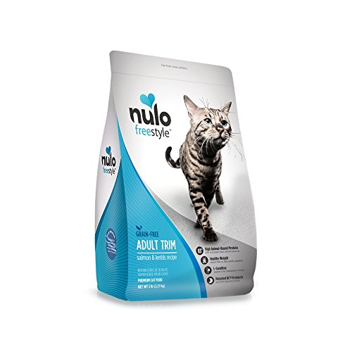 Nulo Adult Trim Grain Free Dry Cat Food With Bc30 Probiotic (Salmon & Lentils Recipe, 5Lb Bag)