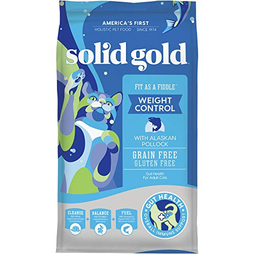 Solid Gold - Fit as a Fiddle with Fresh Caught Alaskan Pollock - Grain Free & Gluten Free - Holistic Weight Control...