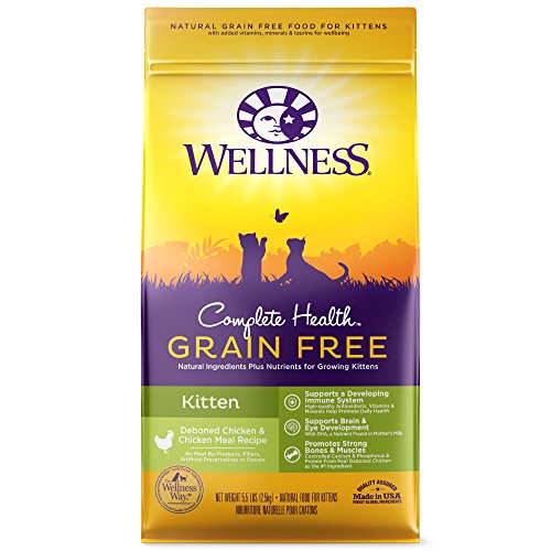Wellness Natural Pet Food Complete Health Natural Grain Free Dry Cat Food, Kitten Health Deboned Chicken & Chicken Meal...