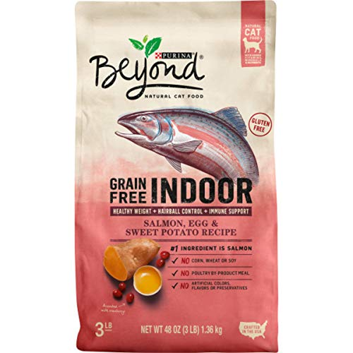 Purina Beyond Indoor, Grain Free, Natural Dry Cat Food, Grain Free Salmon, Egg & Sweet Potato Recipe - 3 lb. Bag