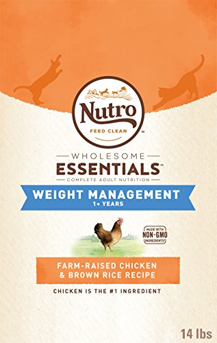 DISCONTINUED BY MANUFACTURER:NUTRO WHOLESOME ESSENTIALS Adult Weight Management Natural Dry Cat Food for Weight Control...