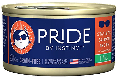 Pride by Instinct Grain Free Flaked Starlet's Salmon Recipe Natural Wet Canned Cat Food by Nature's Variety, 3 oz. cans...