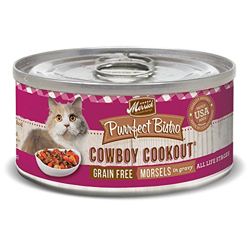 Merrick Purrfect Bistro Grain Free, 5.5 oz, Cowboy Cookout - Pack of 24
