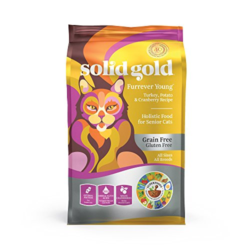 Senior Cat Dry Food; Furrever Young Grain Free With Real Turkey, 6Lb