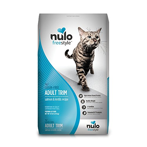 Nulo Adult Trim Grain Free Dry Cat Food With Bc30 Probiotic (Salmon & Lentils Recipe, 12Lb Bag)