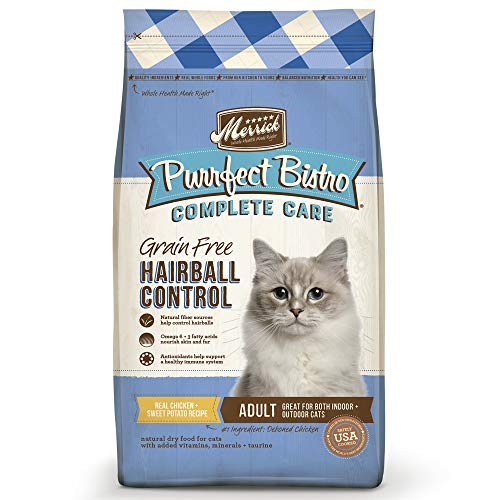 Merrick Purrfect Bistro Grain Free Complete Care Dry Cat Food Hairball Control Recipe