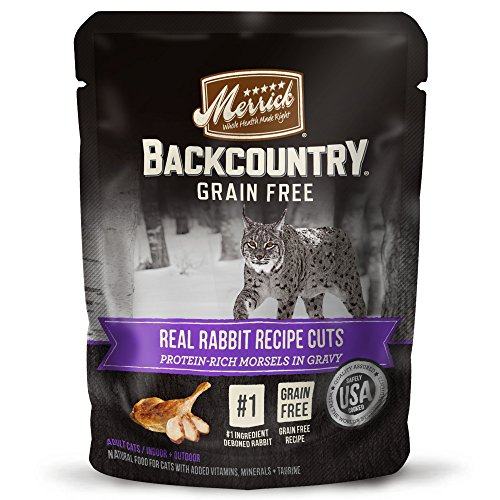Merrick Backcountry Grain Free Real Meat Wet Cat Food Rabbit 3 oz. Pouches (Case of 24)