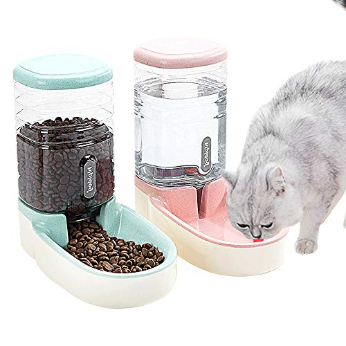 Fairy Tale Automatic Pet Feeder Small&Medium Pets Automatic Food Feeder and Waterer Set 3.8L, Travel Supply Feeder and...