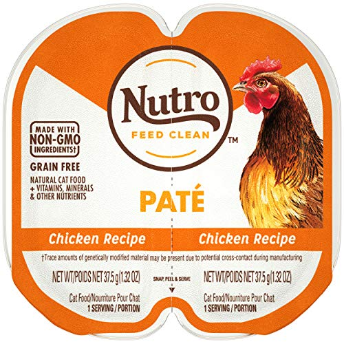 NUTRO PERFECT PORTIONS Pate Real Chicken Wet Cat Food Tray 2.65 Ounces (24 Twin Packs)